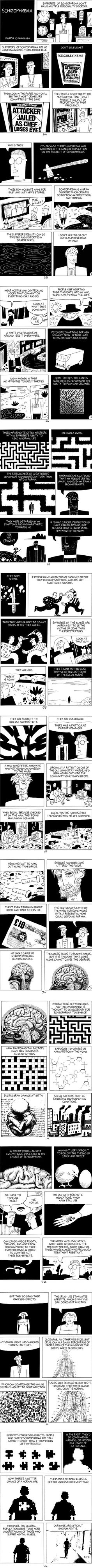 I have to admit, this graphic novella made me feel more than a little ashamed of myself.  I believe I've been guilty of this prejudice against schizophrenia before.  Important information for all of us to read.