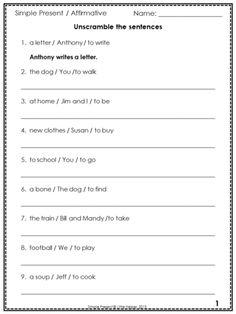 rearrange the words to form a sentence worksheets pinterest sentences worksheets and. Black Bedroom Furniture Sets. Home Design Ideas