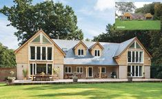8 Remodelled Bungalows: Before & After Bungalow Renovation, Bungalow Exterior, Bungalow Homes, Modern Farmhouse Exterior, Bungalow Ideas, Cottage Exterior, Bungalow Extensions, House Extensions, House Extension Design