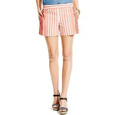 Tommy Hilfiger Embroidered Stripe Short ($50) ❤ liked on Polyvore