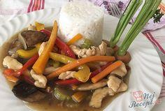 Na talíři podáváme s jasmínovou rýží. Jídlo je chutné a pokud máte rádi čínu, určitě oceníte chuť omáčky. Autor: karambola