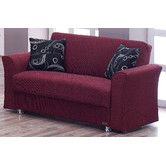 "Wayfair - Beyan Ohio Loveseat (sleeper). 34"" H x 62"" W x 34"" D.  (Also storage below? looks like maybe)"
