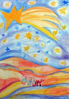 Magráta: My tři králové jdeme k vám Atc, Picasso, Arts And Crafts, Pastel, Painting, Craft Ideas, School, Kunst, Shop Signs