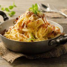 Spaghetti Carbonara - für das Rezept auf das Bild klicken