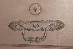 Distressed vintage lock and drawer pull- Annie Sloan Antoinette