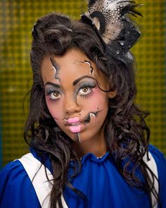 Broken Doll makeup! Fabulous for Halloween!