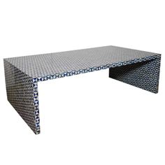 Indian Lapis Lazuli Low Table | From a unique collection of antique and modern coffee and cocktail tables at http://www.1stdibs.com/furniture/tables/coffee-tables-cocktail-tables/