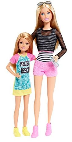 Barbie loves spending time with her sisters and two dolls together help to celebrate the bonds they share together! Barbie and Stacie dolls are heading to the boardwalk in fabulous casual beachwear. ...