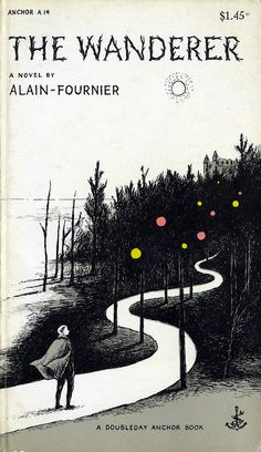 Edward Gorey illustrating the cover of Alain-Fournier's THE WANDERER