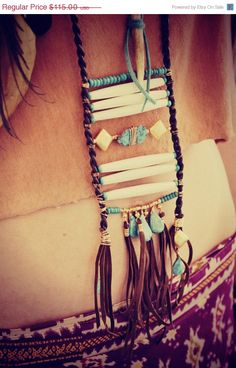Boho Ladder Necklace