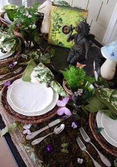 Beautiful flower fairy tablescape