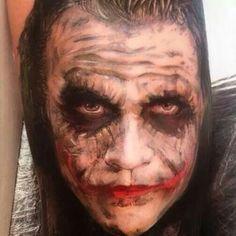 Heath Ledger as The Joker Tatoo