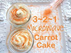 3-2-1 Microwave Carrot Cake