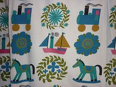 60s Childrens Lined Curtain