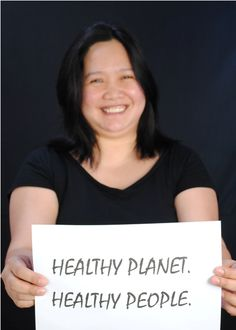 Faye Ferrer of HCWH-Asia for Earth Day 2013.  #Faceofclimate