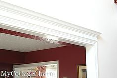 how to put molding up over doors
