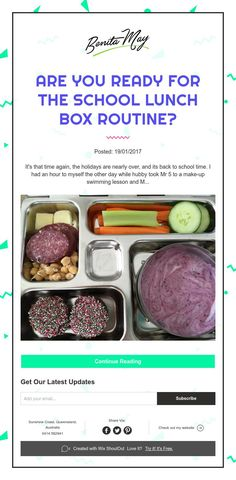 Are you ready for the school lunch box routine?
