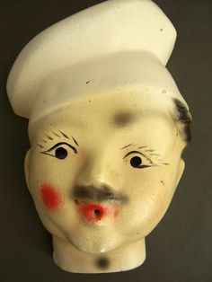 Chef Face String Dispenser | Chalkware Chef string holder