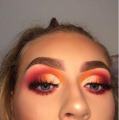 Smokey Eye Makeup Tipps in Hindi Schöne Augen Make-up von Kashee Best Eyeshadow, Pink Eyeshadow, Eyeshadow Makeup, Eyeshadow Palette, Orange Eyeshadow Looks, Cute Eyeshadow Looks, Cut Crease Eyeshadow, Smokey Eyeshadow, Eyebrow Makeup