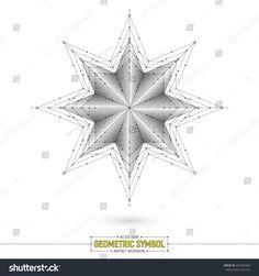 Vector Star Geometric Symbol Art Illustration on White Background | sacred, symbol, logo, icon, magic, esoteric, mandala, geometric, spiritual, vector, abstract, background, shape, grey, monochrome, white, line, art, illustration, texture, object, 3d, deco, decorative, symmetry, design, element, dotted, dotwork, stipple, fractal, medallion, pattern, kaleidoscope, mistery, mystic, star, tattoo, crystal, sign, round, segment, part, compass, divide, emblem, harmony, facet, sketch, direction