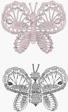 Interdependence Enchanted: Butterflies crochet (diagrams)