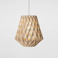 Pilke Lamp 36 Natural, £255, by Showroom Finland