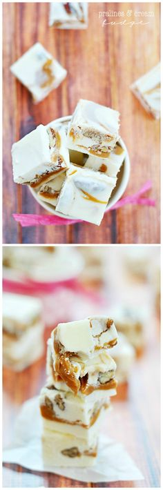 Pralines & Cream Fudge | www.somethingswanky.com