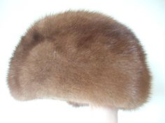 Vintage 1950s Pastel mink fur hat cloche style from Griffin and Spalding's Model Hat Room.