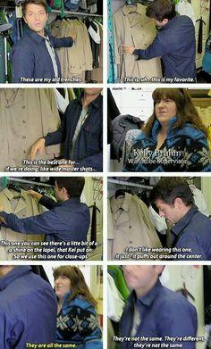 Gotta love Misha and his trenches