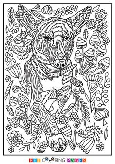 Free Printable Mutt Coloring Page Available For Download. Simple And  Detailed Versions For Adults And Kids.