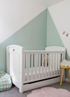 Baby Bedroom, Baby Room Decor, Nursery Room, Home Bedroom, Girls Room Paint, Baby Zimmer, Decor Interior Design, Cribs, Toddler Bed