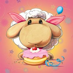 Afbeeldingsresultaat voor mylo and friends sheep Funny Sheep, Cute Sheep, Cute Owl, Painting For Kids, Art For Kids, Lapin Art, Eid Crafts, Cute Cartoon Characters, Blue Nose Friends