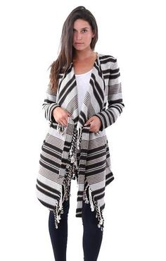 BBDakota fall 2016 fashion trends With an striped design and cozy fit, the BB Dakota Sparrow Blanket Coat in Oatmeal will be a great item to add to your closet
