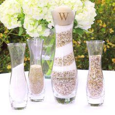 Rustic Unity Sand Ceremony 4-Piece Vase Set #wedding #sandceremony http://www.beforetheidos.com/Rustic-Unity-Sand-Ceremony-4-Piece-Vase-Set-p/cc-ps3909nb.htm