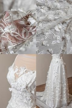 Beaded Wedding Gowns, Wedding Lace, Lace Weddings, Boho Wedding Dress, Bridal Lace, Wedding Dresses, Vintage Bridal, Lace Fabric, Floral Lace