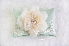 Ring Bearer Pillow romantic wedding ring pillow by allaboutromance, $49.00