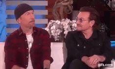 U2 Saved Bono Irish Rock, Larry Mullen Jr, Bono U2, Rock Legends, Cool Bands, Rock N Roll, Police, Catalog, Gifs
