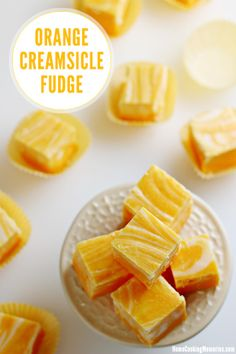 Orange Creamsicle Fudge is a bright & cheerful fudge candy that will remind you of frozen orange & cream bars (such as Creamsicles or 50/50 bars).