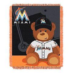 MLB® Miami Marlins Teddy Bear Baby Jacquard Throw