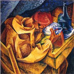 """The Drinker"", 1914 Umberto Boccioni was an influential Italian painter and sculptor. He helped shape the revolutionary aesthetic of the Futurism movement as one of its principal figures."