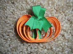 Cute little pumpkin hair clip =)
