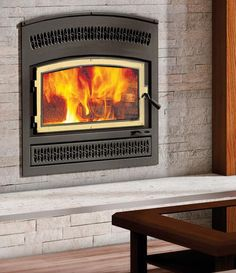 Wood Fireplace by Valcourt, Model: Lafayette Wood Burning Fireplace Inserts, Fake Fireplace, Hearth, Home Appliances, Farmhouse, Model, Home Decor, Fire, Log Burner
