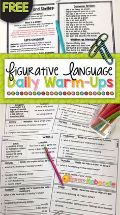 Figurative Language Posters Anchor Charts  ReaderS Notebook
