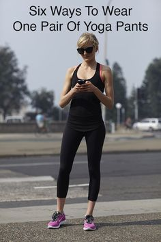 The athleisure look is huge right now, but that doesn't mean you need spend a lot on a ton of fitness wear to be on trend. Having a few great basics you can wear a bunch of ways can be far more efficient. Check out how to style one pair of black yoga pants in six different ways to see how versatile they can be and worth adding to your wardrobe.