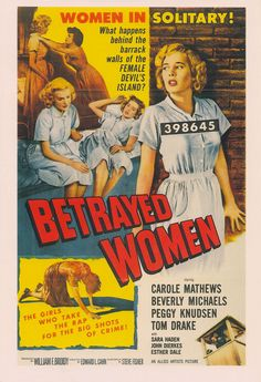Woman in solitary! What happens behind the barrack walls of the Female Devil's Island? The girls who take the rap for the big shots of crime! The Munsters, Lena Headey, Movie Mistakes, Valar Morghulis, Arya Stark, Big Shot, Film Posters, The Girl Who