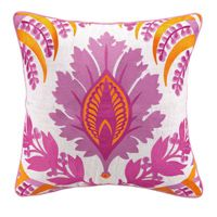 Pina Embroidered Pillow Pink - @Carmel Keane Decor #carmeldecor #Throwpillow #pillow #decor