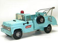 Vintage BUDDY L Large Metal Toy Wrecker Truck Pressed Steel Toys Old Metal Truck