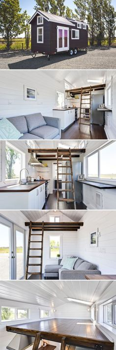 Tiny House Living: A 24 tiny house designed by Shantel  Nathan Wahl. ...