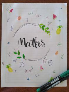 Bullet Journal Work, Bullet Journal Cover Ideas, Bullet Journal Layout, Math Projects, School Projects, Math Border, Project Cover Page, Back To School Displays, Maths Tricks