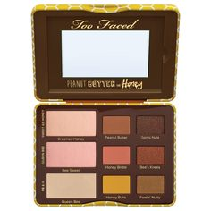 People are buzzing like bees for the Peanut Butter and Honey Eye Shadow Collection by Too Faced. This is a limited edition so get it while you can beautiful!